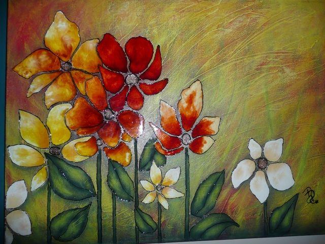 Vitrail sur toile pinteres for Faux vitrail sur miroir