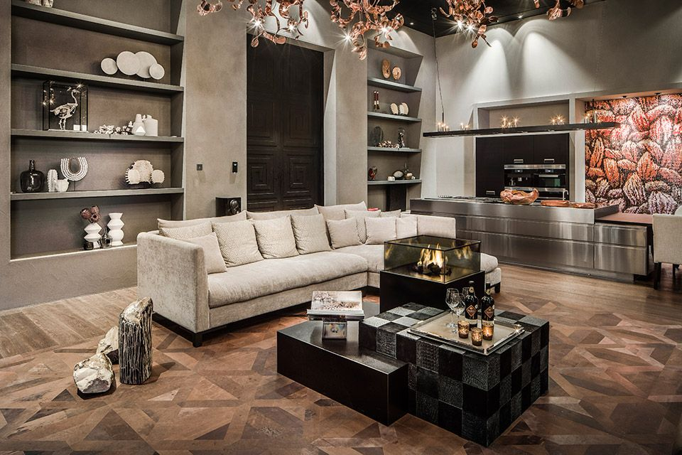 Leather floor interior design interiors