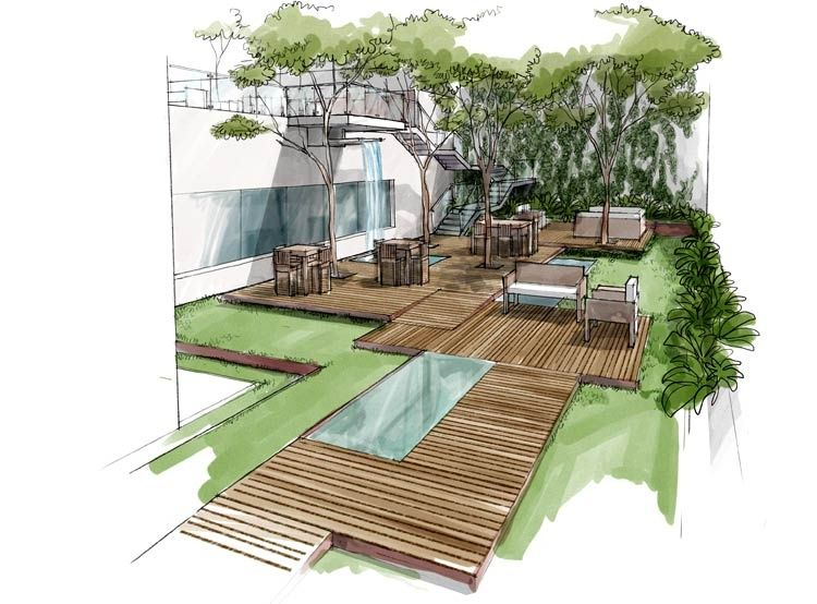 Landscape And Deck Rendering Markers