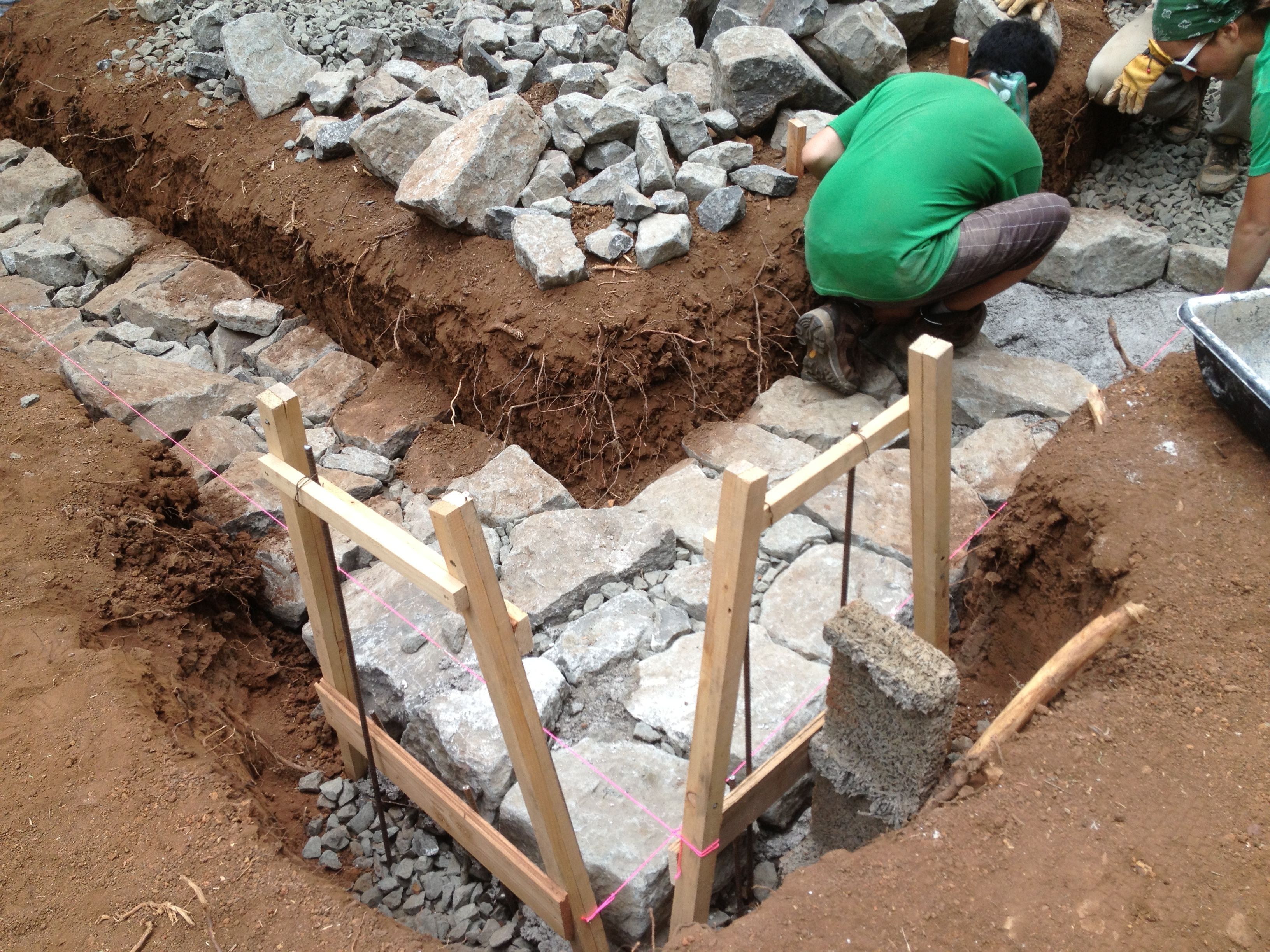 Cob Stone Cottage Building A Foundation Log Electrical Rough In Wiring Of Earthship Tire Walls Pictures To Pin On