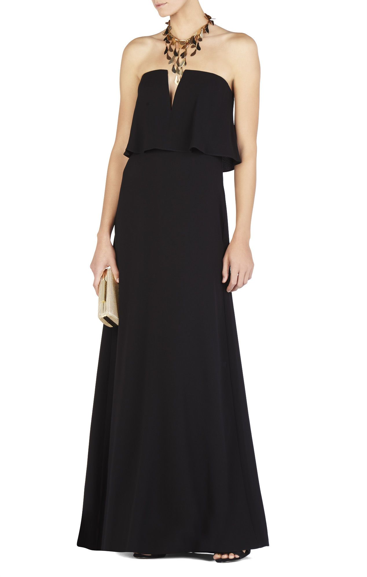 d11596adbe6 Alyse Strapless Overlay Gown