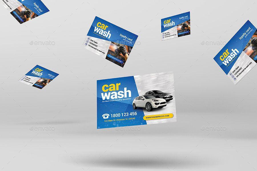 Car Wash Business Loyalty Card
