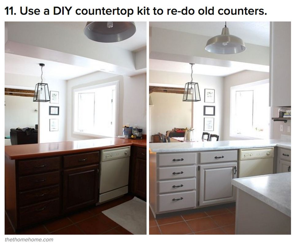 Kitchen Countertops Upgrade: 21 Kitchen Upgrades That You Can Actually Do Yourself