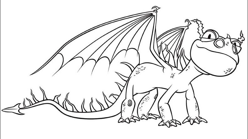 How To Train Your Dragon Coloring Pages How Train Your Dragon
