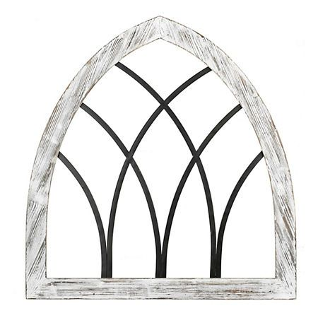 Product Details Weathered White Cathedral Arch Wall Plaque