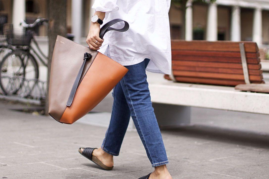 597048ea43 CELINE TWISTED CABAS Celine Handbags
