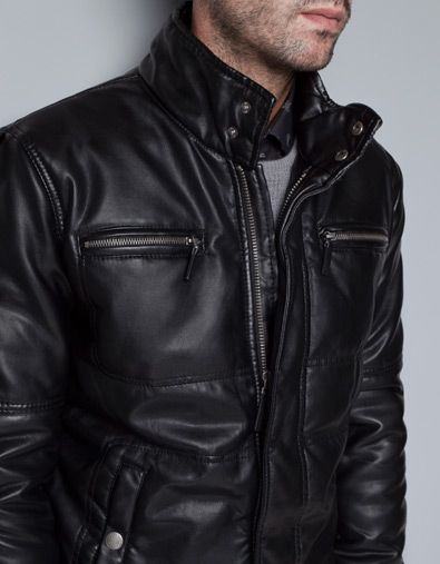 chaqueta motorista hombre zar