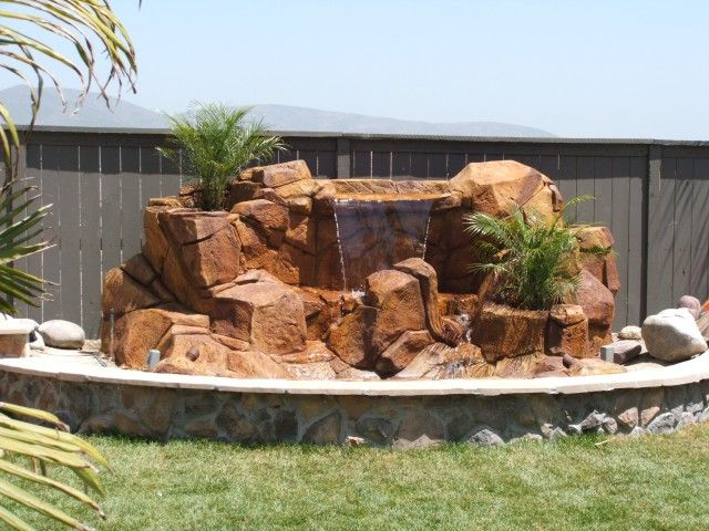 Artificial Rock Waterfalls Landscapes