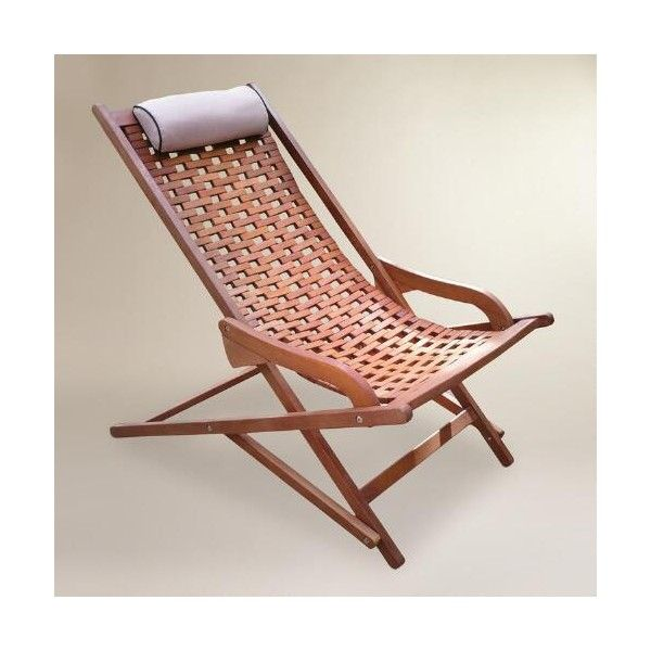 cost plus world market wood catania swinger lounger with pillow