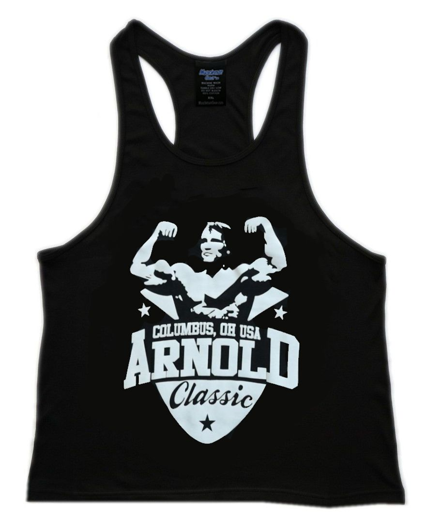 54272b7d30ddf Arnold Classic Men s Workout Tank Top Racerback Stringer Golds Gym  Bodybuilding Singlet...Available From Muscleman Gear On Etsy.