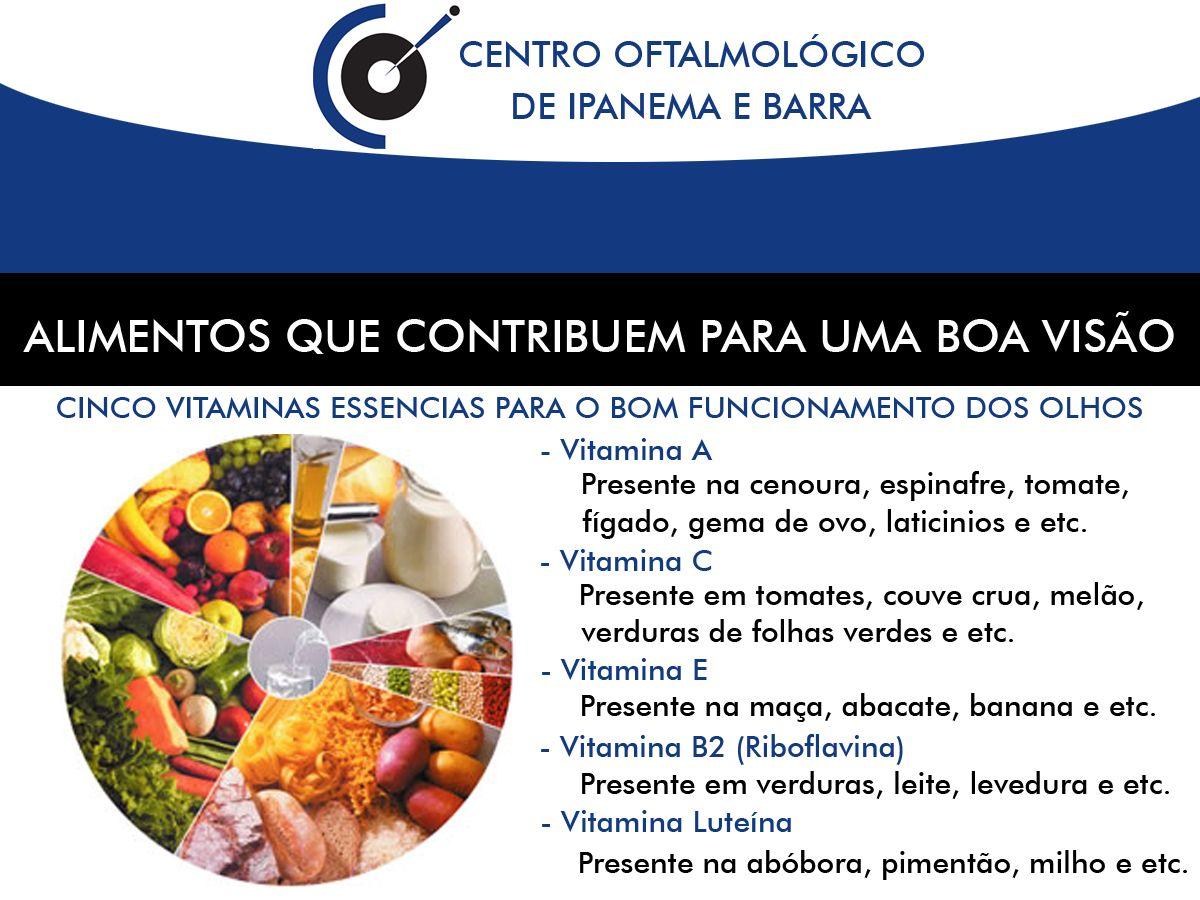Alimentos Que Contribuem Para Uma Boa Visao Ideias Alimentos