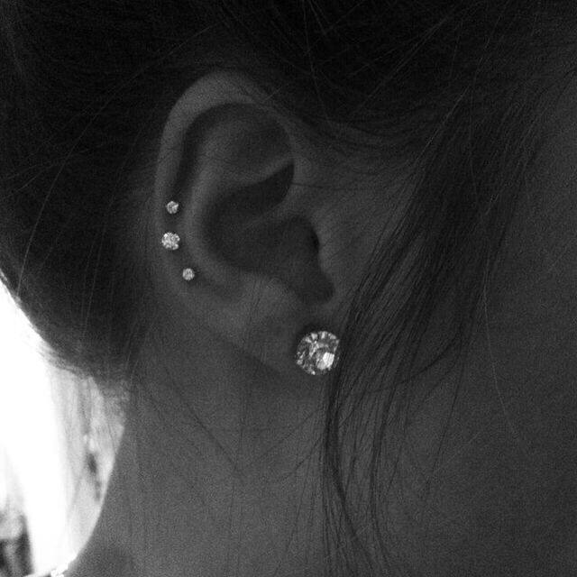 Photo of I want to do this with a double ear lobe on the left ear – Jewelry Pi … – In …