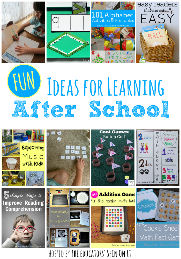 Fun Ideas for Learning After School with Kids | Kid, Ideas and Schools