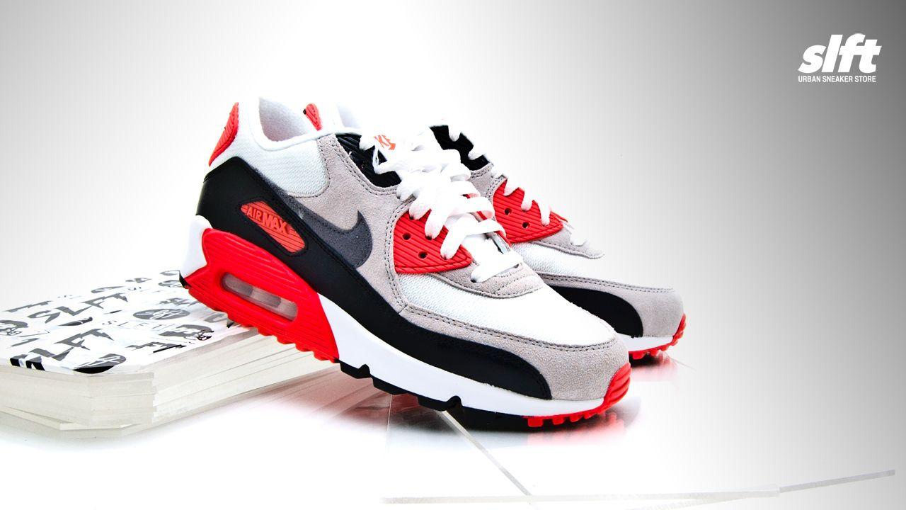 """Der Air Max 90 Premium Mesh """"Infrared"""" (GS) von Nike, ebenfalls für die Damen ab sofort inStore und onLine auf www.soulfoot.de erhältlich!  #nike #airmax #am90 #infrared #premium #sneaker #soulfoot #slft"""