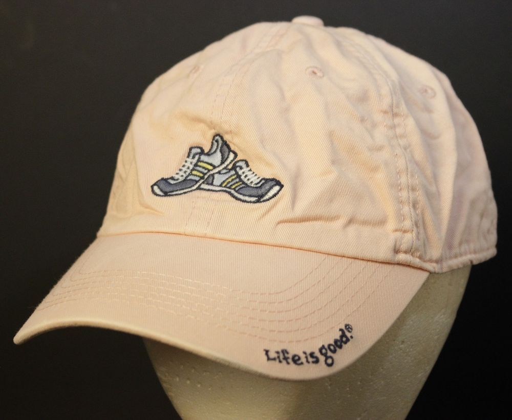 459af381103 Life is Good Hat Baseball Cap Sneakers Strapback Adjustable Pink Smiley  Face  LifeisGood  BaseballCap