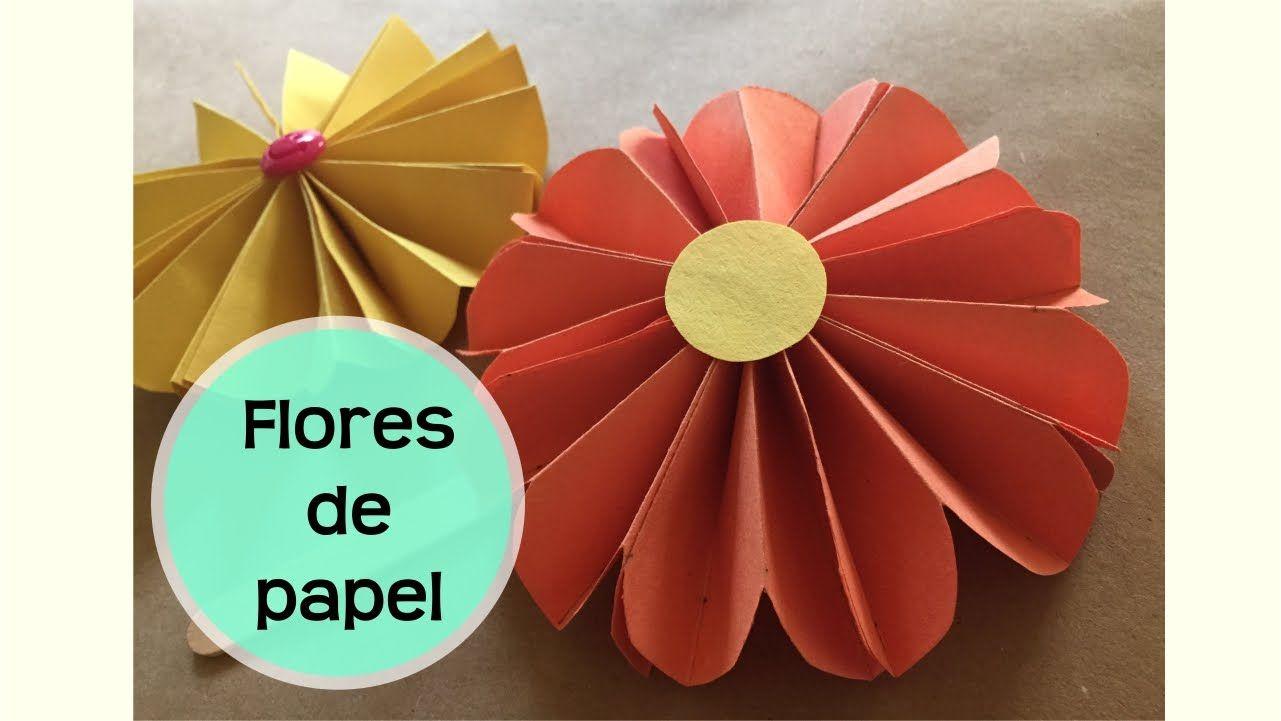 Flores de papel flores de origami aprende c mo hacer - Como se hacen flores de papel ...