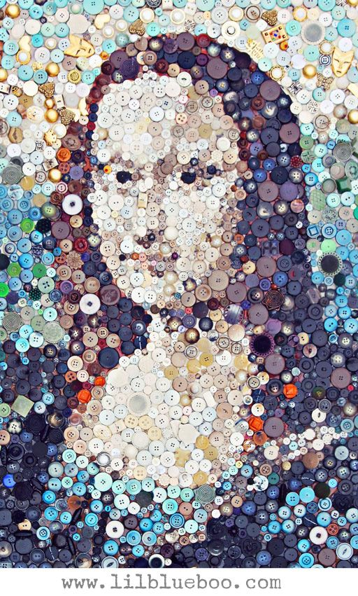 Make this! The Mona Lisa button collage by lilblueboo.com (click ...