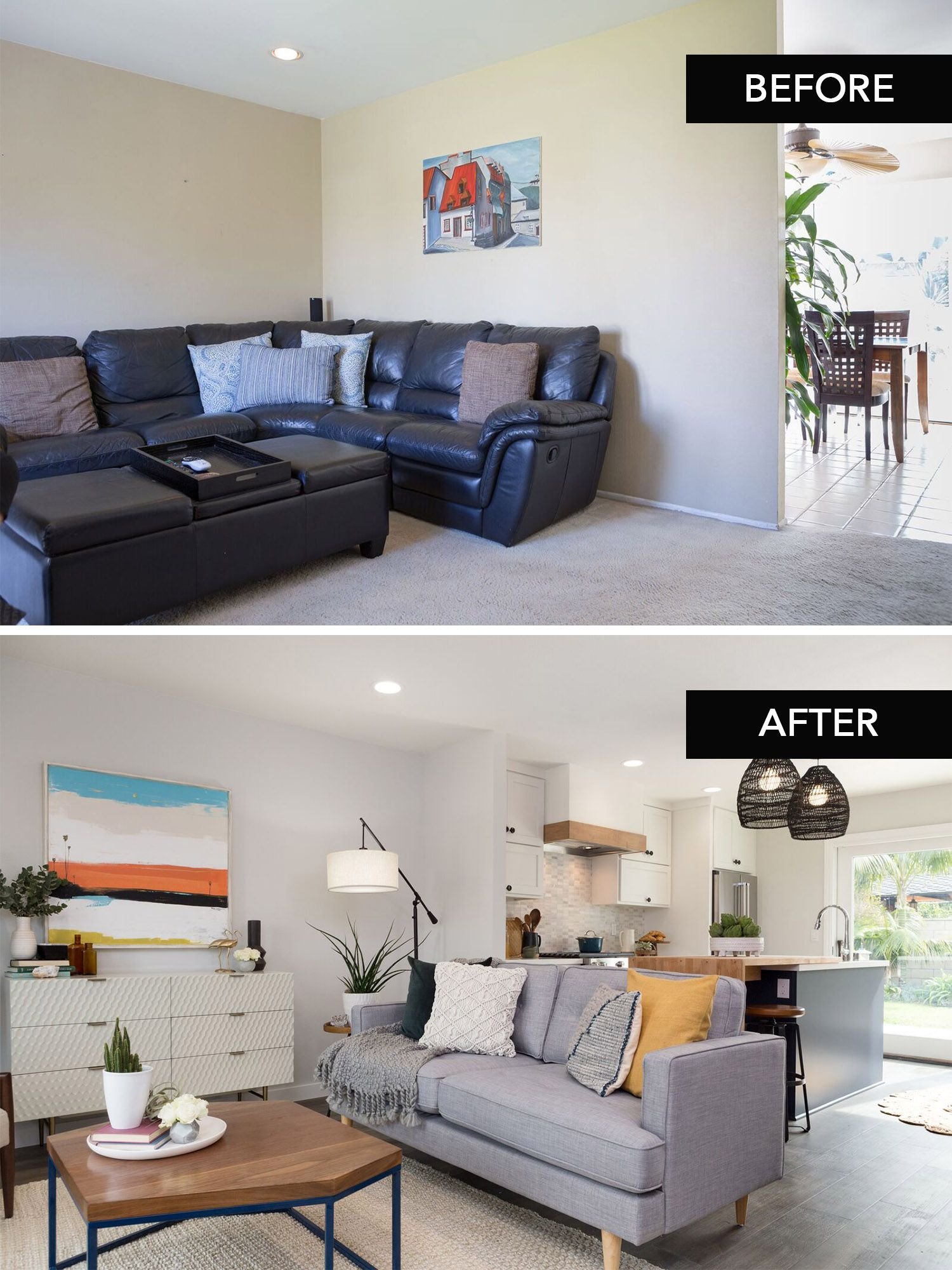 California Bungalow Living Room Renovation As Seen On Hg