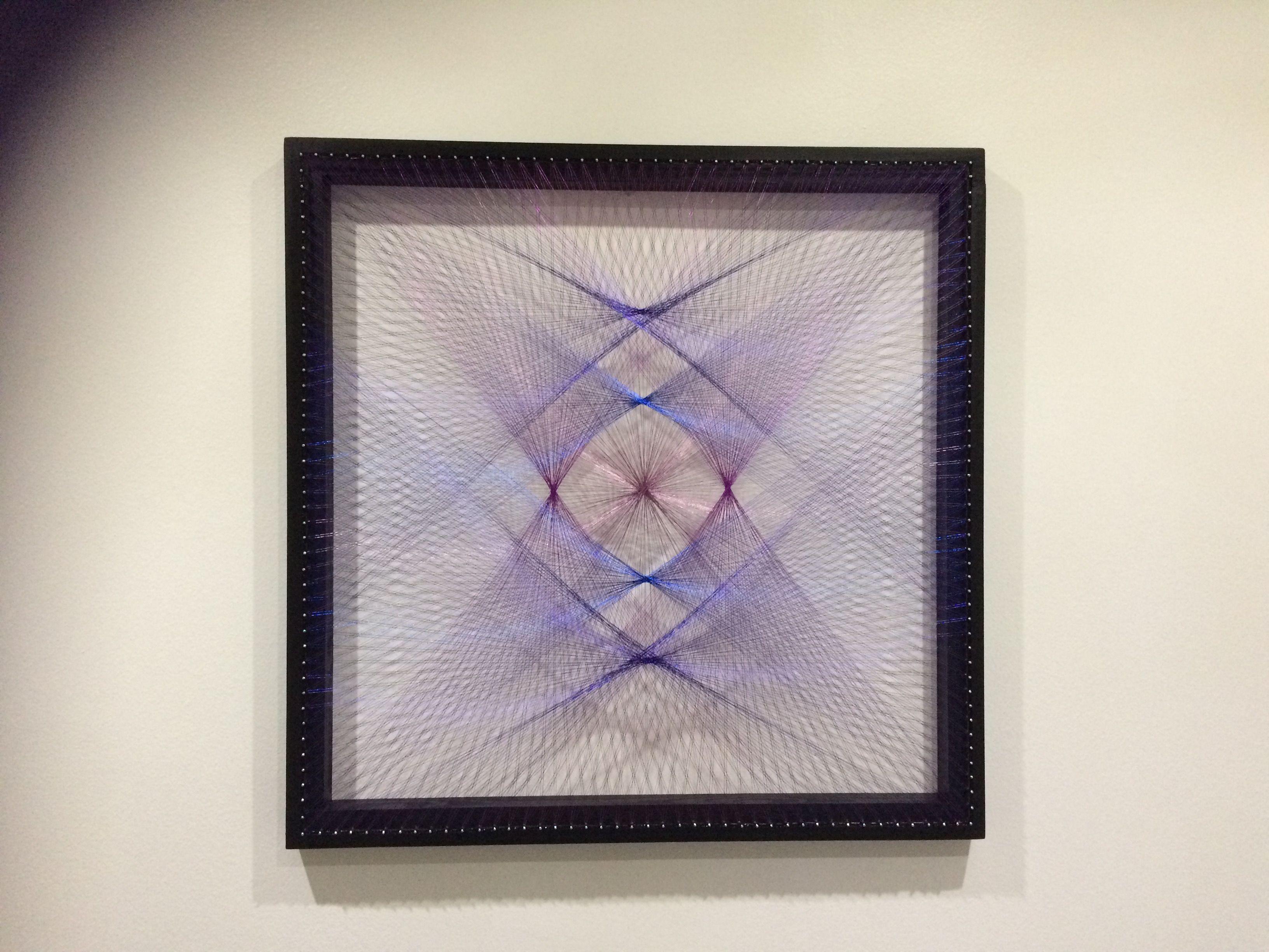 Geometric string art frame by LSD String