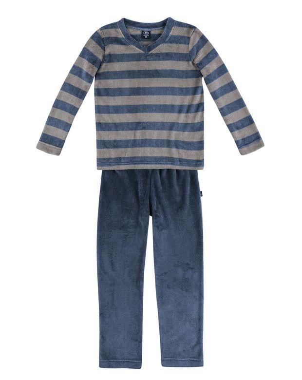 Pijama Infantil Menino Em Poliéster Blusão + Calça | Pijamas | Masculino | Hering Kids