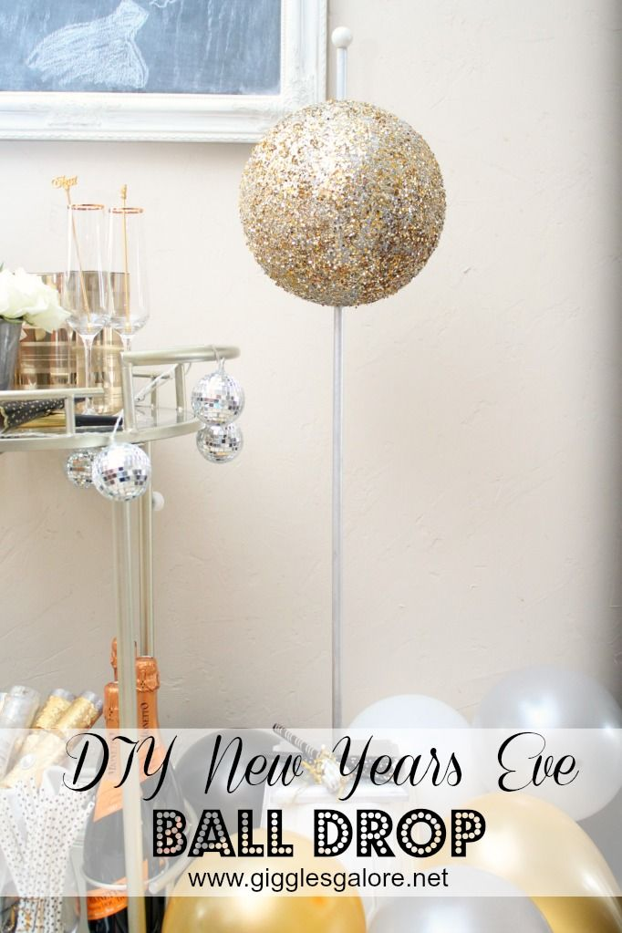 Create Our Very Own Diy New Years Eve Ball Drop To Count Down To The New Year Diy Newyearsev New Years Eve Ball Kids New Years Eve New Years Eve Decorations