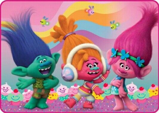 Pin By Estherka On Trolls Edible Cake Toppers Birthday