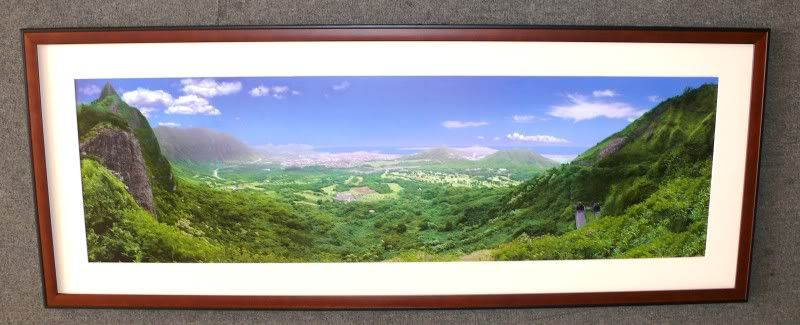BROWN BLACK PANORAMIC Panorama Poster Frame IVORY Mat | Ivory and ...