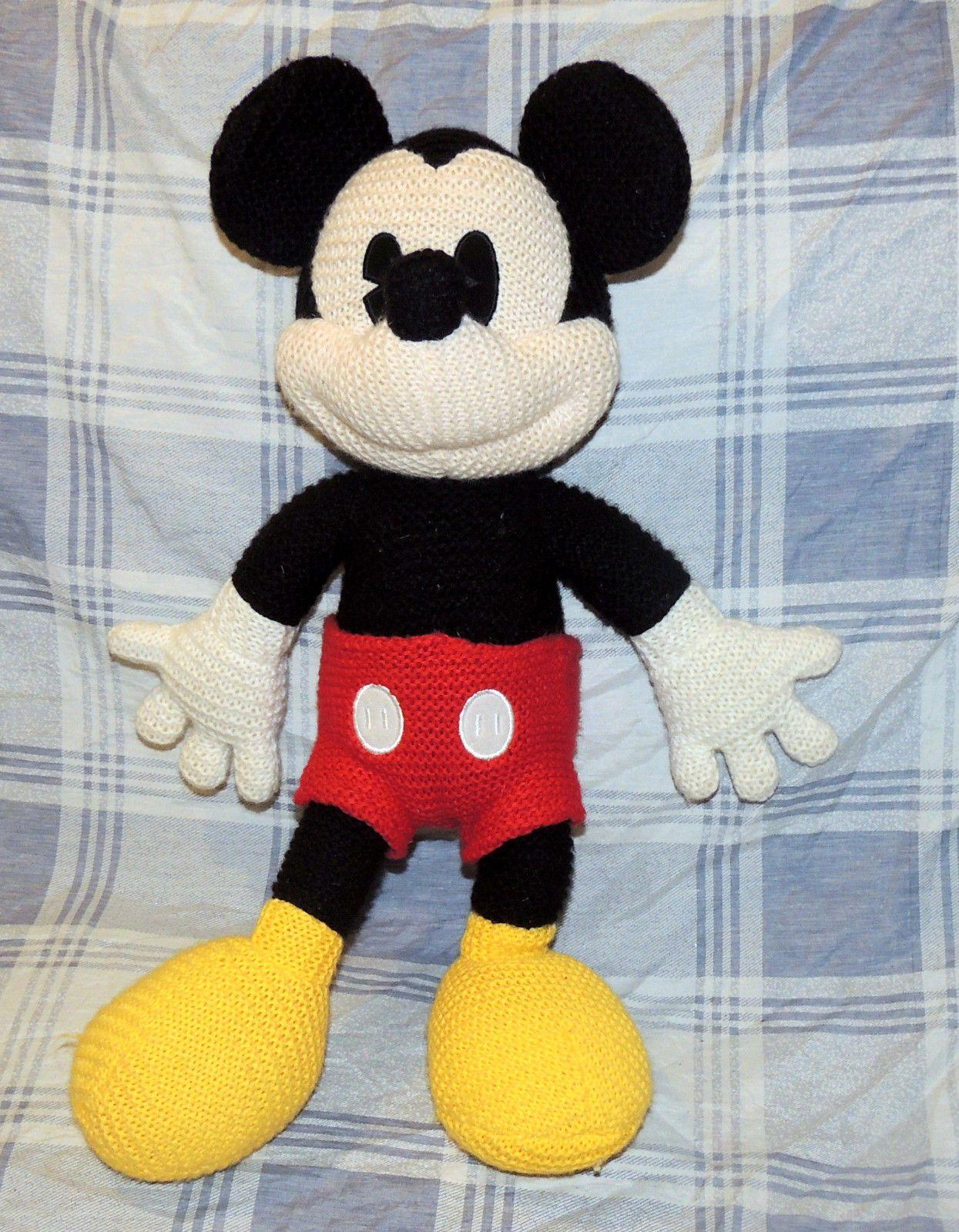 Mickey Mouse Knit Crochet Plush Toy Disneyland Disney