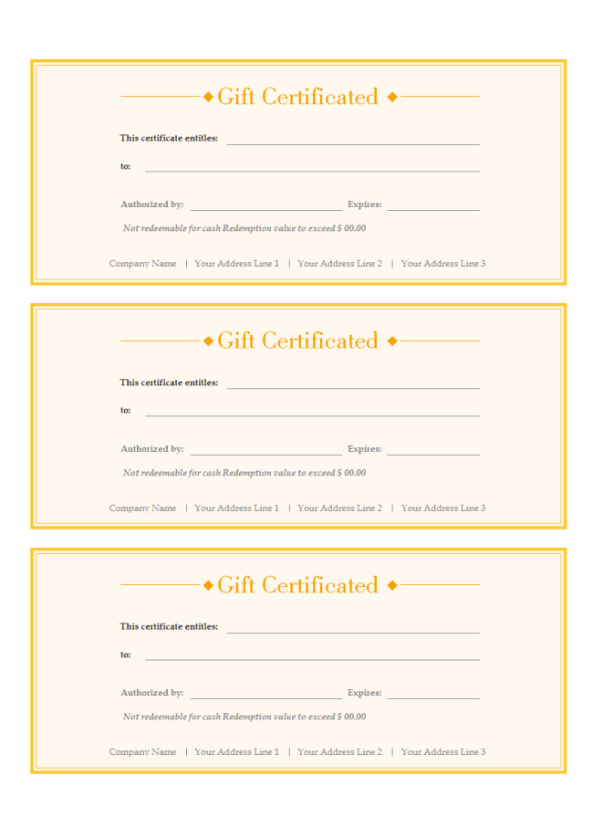 A Free Customizable Gift Voucher Template Is Provided To Download And Print Qui Free Gift Certificate Template Free Gift Voucher Template Printable Gift Cards