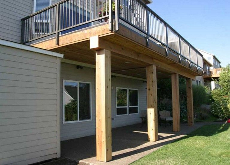 45 Inspiring Second Floor Deck Design Ideas Building A Deck