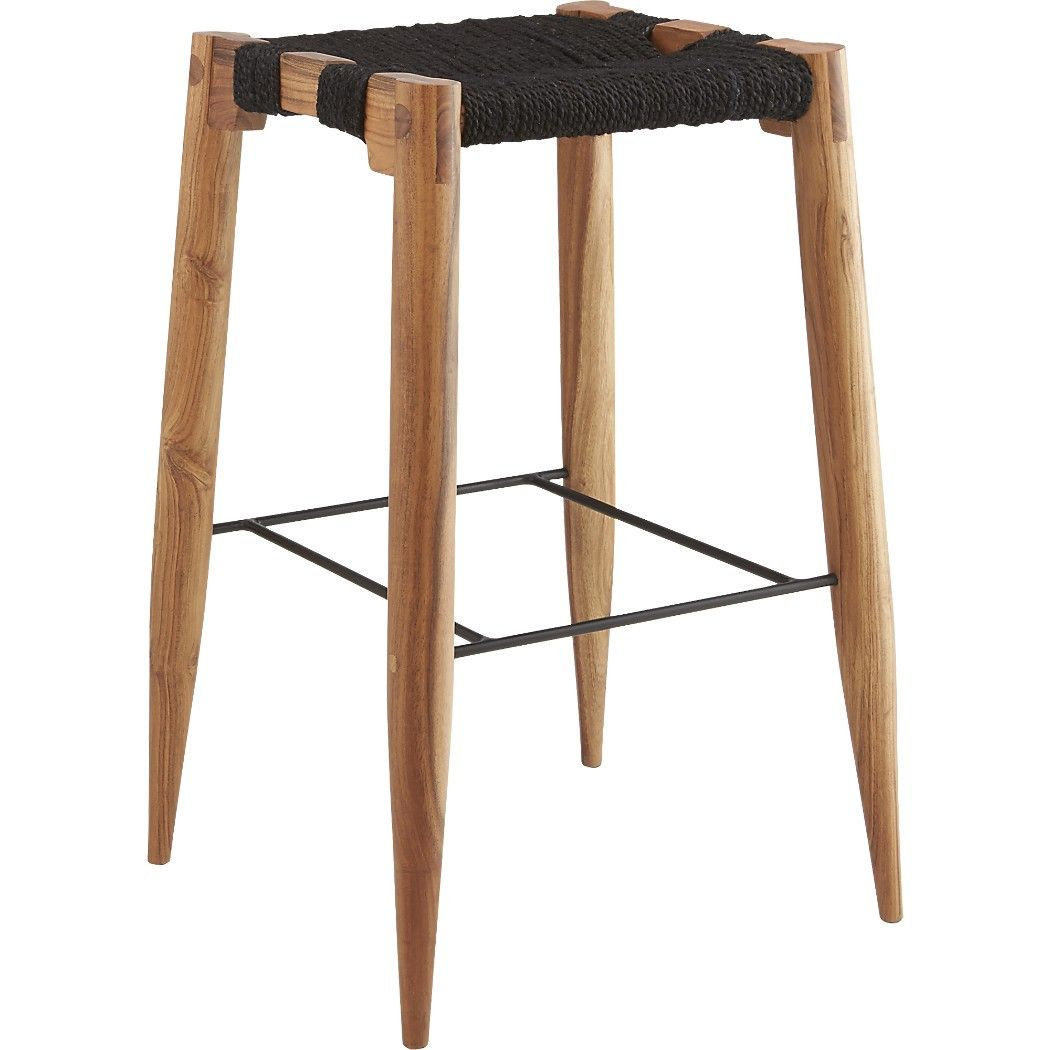 Shop Wrap 30 Bar Stool Tribal Inspired Stool In Natural Black Dyed Jute Rope Warps Wefts Varying Tones Over An Ope Bar Stools 30 Bar Stools 24 Counter Stools