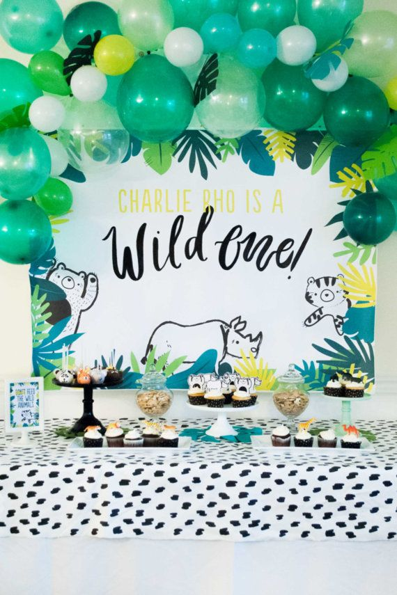 Wild One First Birthdsay 4ft Backdrop Printable by ItsyBelle