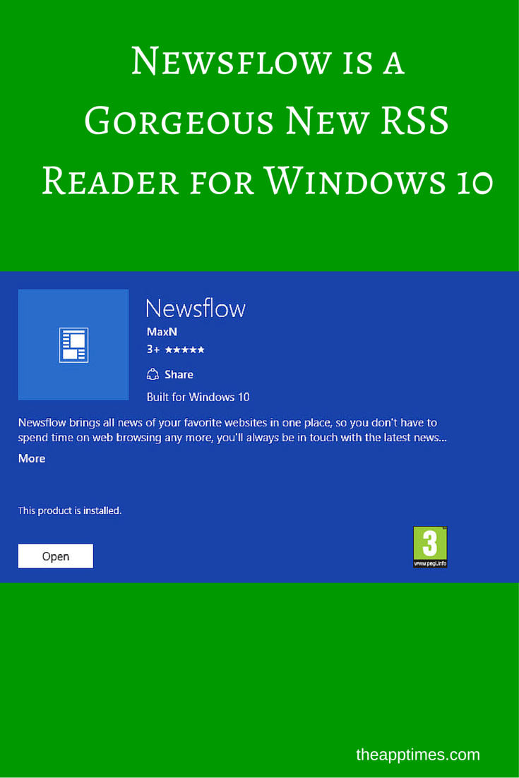 Newsflow is a New RSS Reader for Windows 10