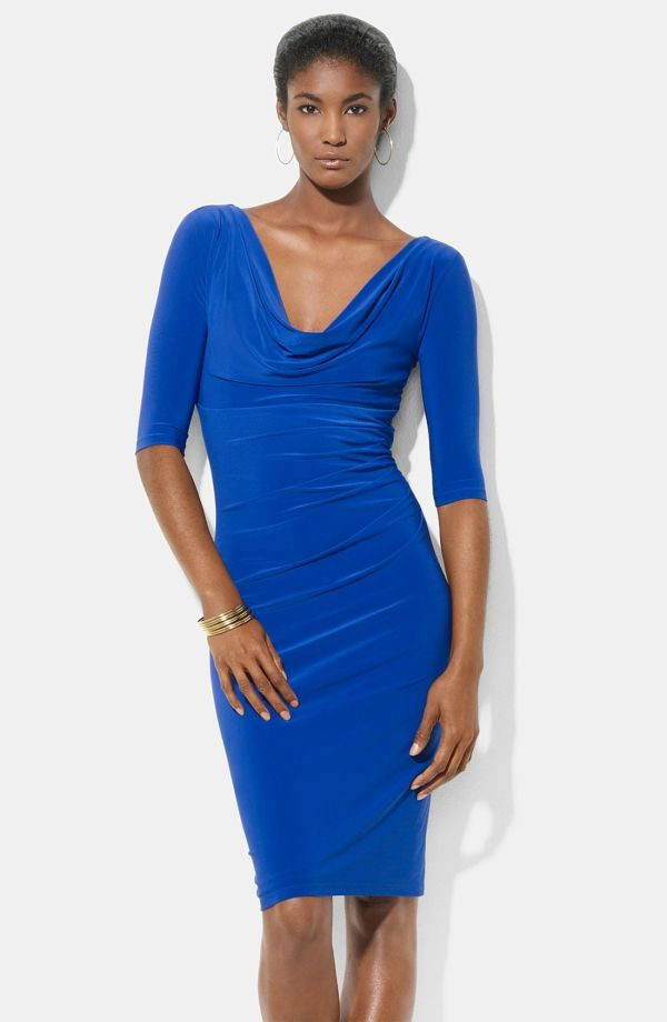 Ralph Lauren Dresses Nordstrom Cowl Neck Jersey Sheath Dress By