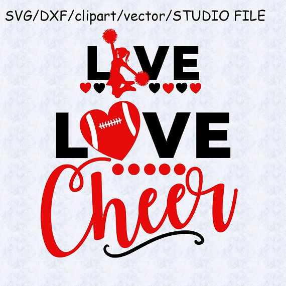 Download Live love cheer svg, dxf, clipart, studio file, eps vector ...