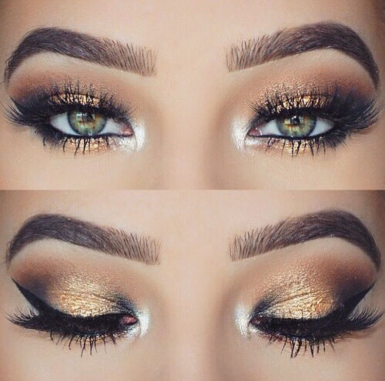 Smokey eye ( gold and brown ) | Makeup | Pinterest