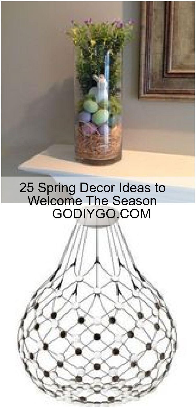 25 Spring Decor Ideas to Welcome The Season  GODIYGO.COM#easter#decoration ,  #decor #GODIYGOCOMeasterdecoration #ideas #Season #Spring