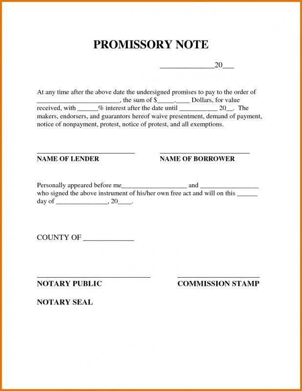 Simple Promissory Note Promissory Note Notes Template Personal