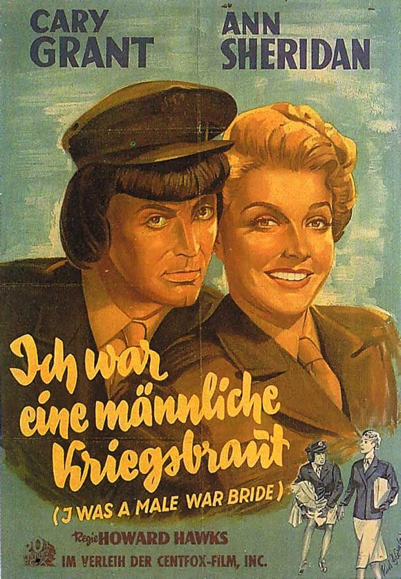 I Was a Male War Bride Poster//I Was a Male War Bride Movie Poster////Movie Poster//