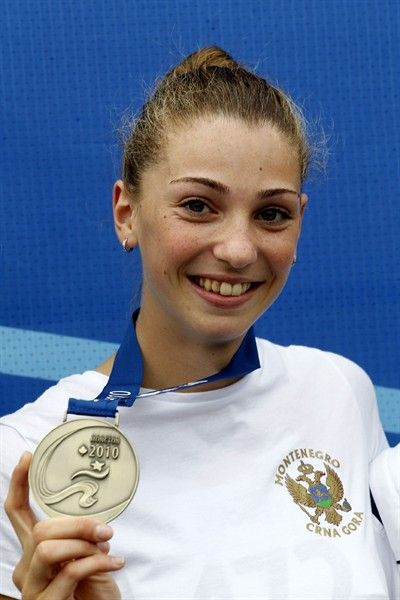 Marija Vukovic of Montenegro won that country's first athletics medal of any kind - and gave the assembled spectators their first listen of the Montenegran national anthem at that - when she cleared 1.91m in the High Jump. 1.91m is a Montenegran junior national record, but more importantly the first medal won by a Montenegran athlete in international competition, as the country only became independent of Serbia in 2006.