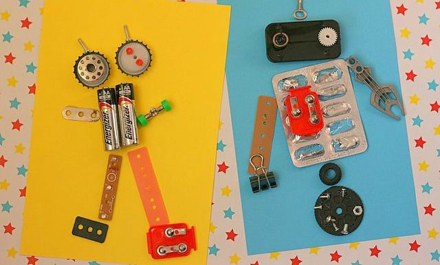 Reduce Reuse Recycle Recycled Robot Robot Theme Art For Kids