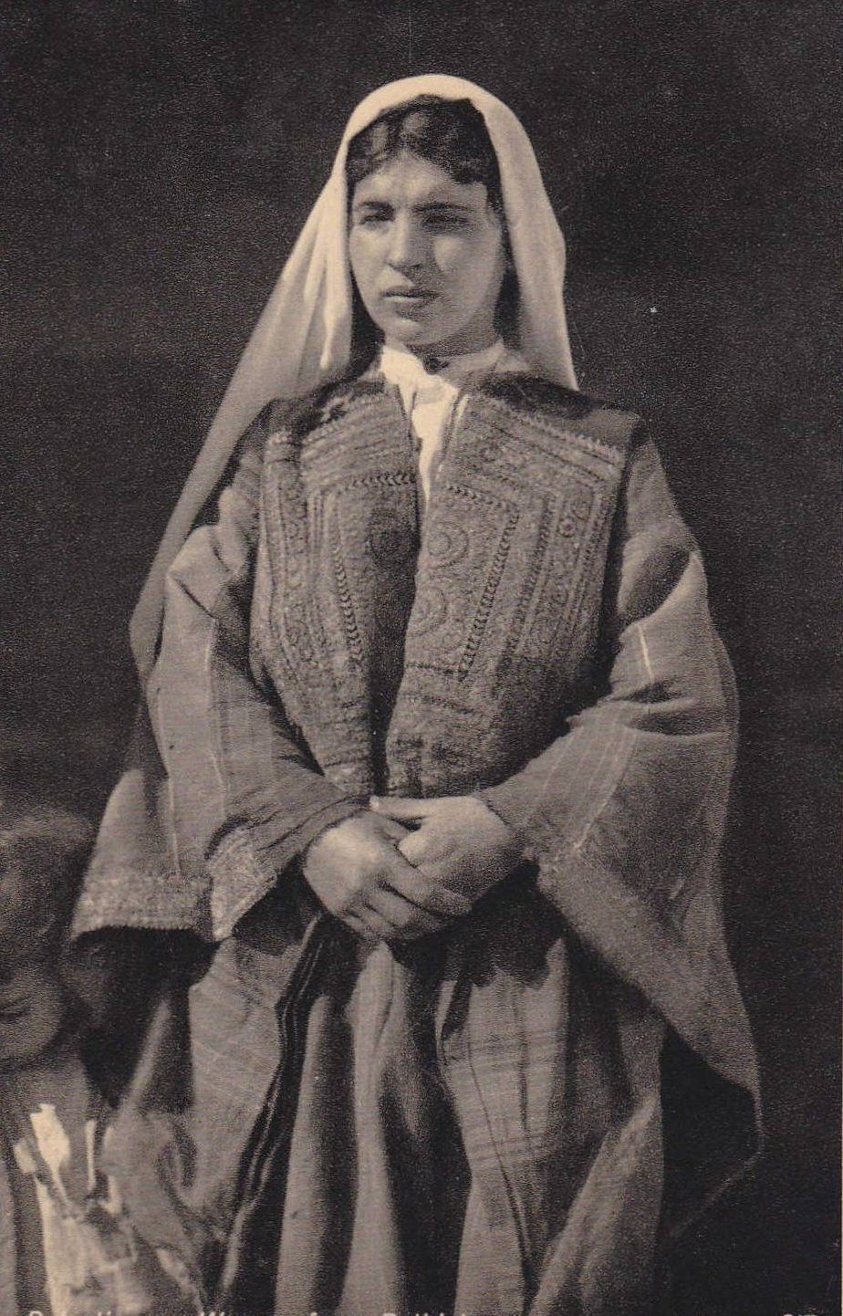 Palestinsk Traditionell Klänning Fotografering för