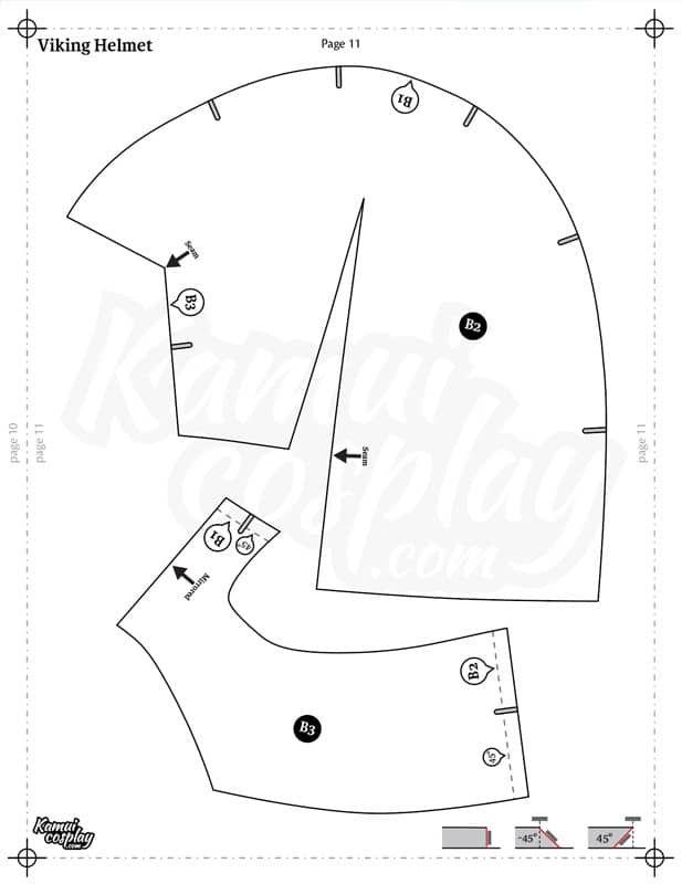 Foam Helmet Pattern : helmet, pattern, Helmet, Pattern, Collection, DOWNLOAD PDF, KamuiCosplay, Helmet,, Armor,