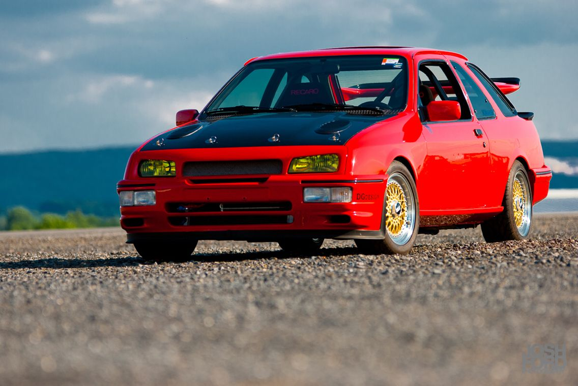 David G S Red Merkur Xr4ti On Gold Bbs Rs This Feature Had A Ton