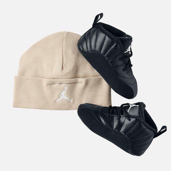 141dd2dff8f1a JORDAN 12 RETRO GIFT PACK BLACK INFANT BABY SHOES SIZE 3C  378139 013    Jordan  Athletic