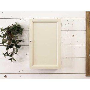 Jewelry case wall hanging wooden door antique white w25d7h40cm hook with wooden hinoki …
