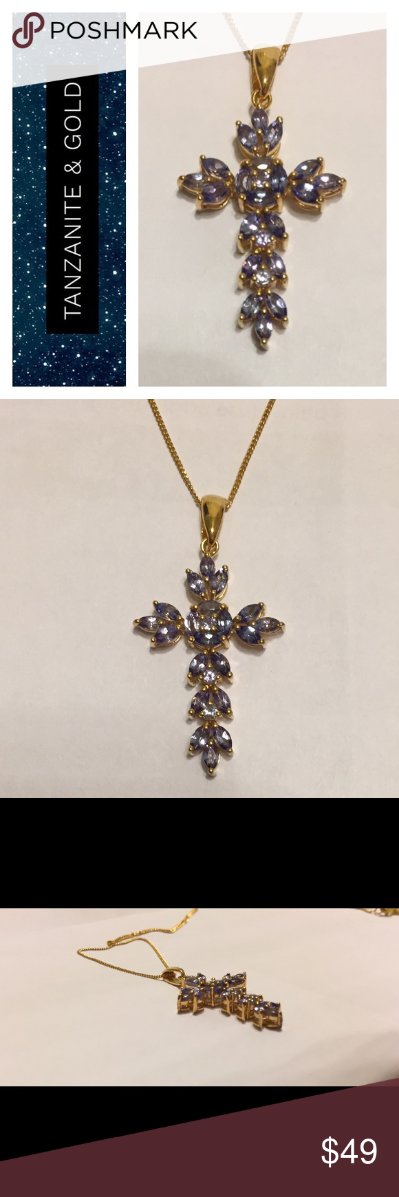 Tanzanite cross pendant with chain 925 this is for a tanzanite tanzanite cross pendant with chain 925 this is for a tanzanite cross pendant with chain aloadofball Choice Image