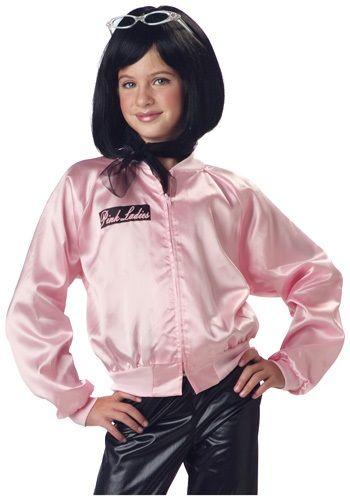Girls Grease Pink Ladies Jacket - Kids Grease Costume | Halloween ...