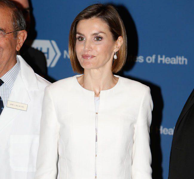 Doña Letizia visita uno de los laboratorios de investigación de la unidad pediátrica de lucha contra el cáncer National Institutes of Health. Washington D.C., 16.09.2015