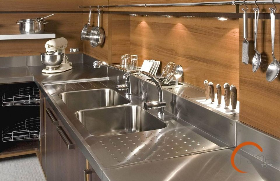 stainless steel  kitchen butlers pantry prep kitchen